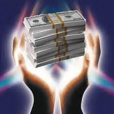 open hands holding money